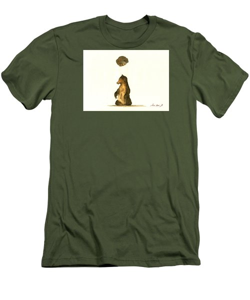 Woodland Letter I Men's T-Shirt (Slim Fit) by Juan  Bosco
