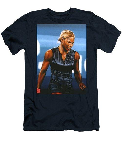 Serena Williams Men's T-Shirt (Slim Fit) by Paul Meijering