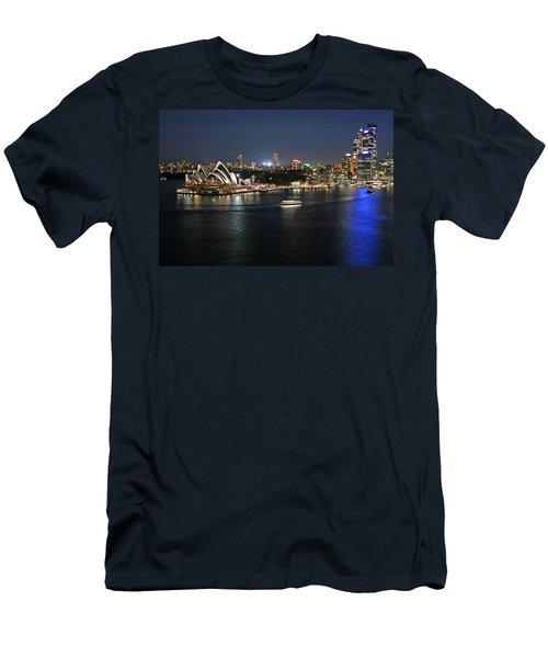 Sydney Harbor At Circular Quay Men's T-Shirt (Slim Fit) by Ellen Henneke