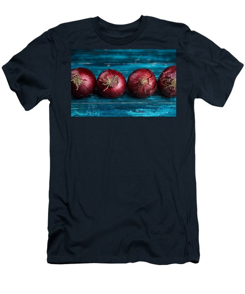 Red Onions Men's T-Shirt (Slim Fit) by Nailia Schwarz