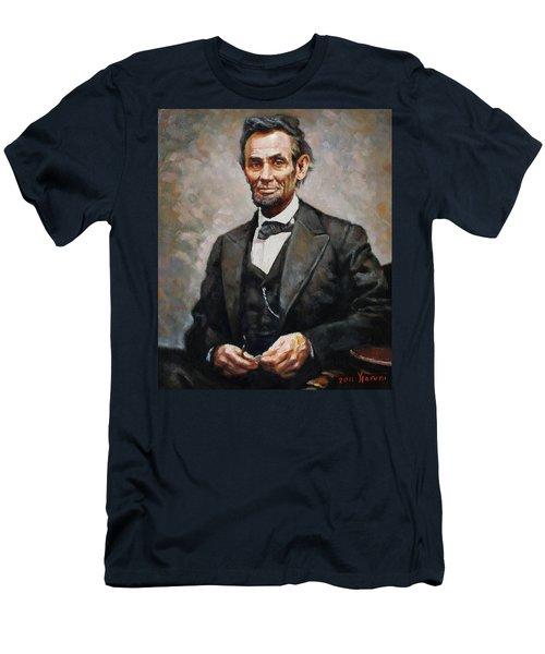 Abraham Lincoln Men's T-Shirt (Slim Fit) by Ylli Haruni