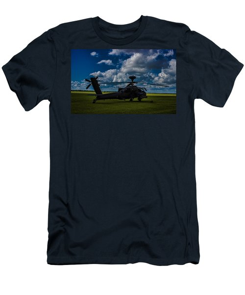 Apache Gun Ship Men's T-Shirt (Slim Fit) by Martin Newman