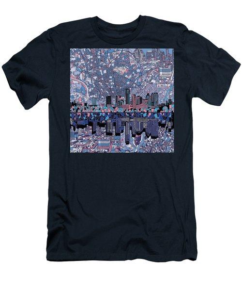 Austin Texas Skyline 3 Men's T-Shirt (Slim Fit) by Bekim Art