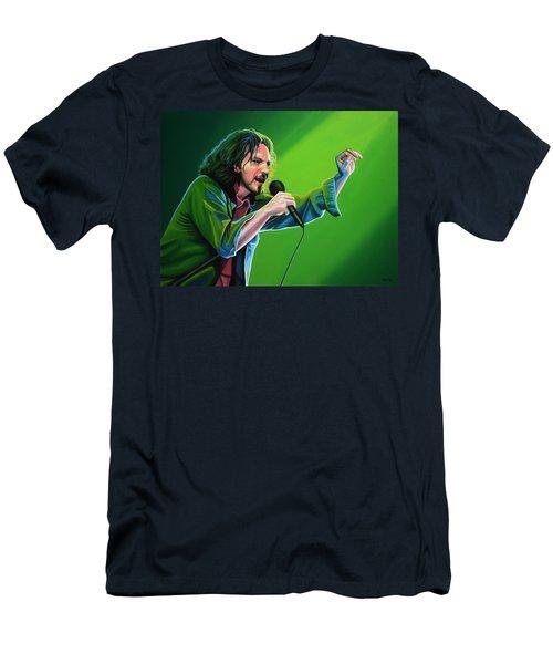 Eddie Vedder Of Pearl Jam Men's T-Shirt (Slim Fit) by Paul Meijering