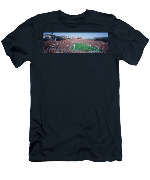 Football, Soldier Field, Chicago Men's T-Shirt (Slim Fit) by Panoramic Images