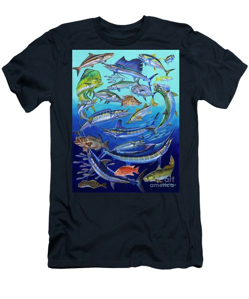 Gamefish Collage In0031 Men's T-Shirt (Slim Fit) by Carey Chen