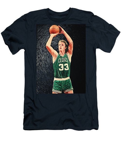 Larry Bird Men's T-Shirt (Slim Fit) by Taylan Apukovska