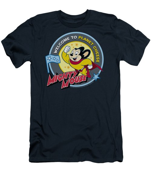 Mighty Mouse - Planet Cheese Men's T-Shirt (Slim Fit) by Brand A