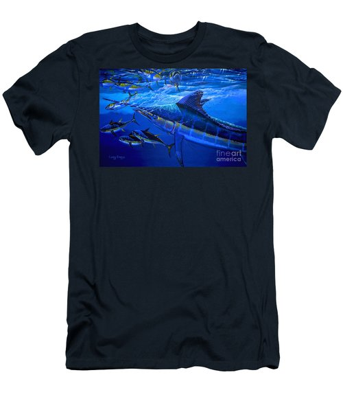 Out Of The Blue Men's T-Shirt (Slim Fit) by Carey Chen