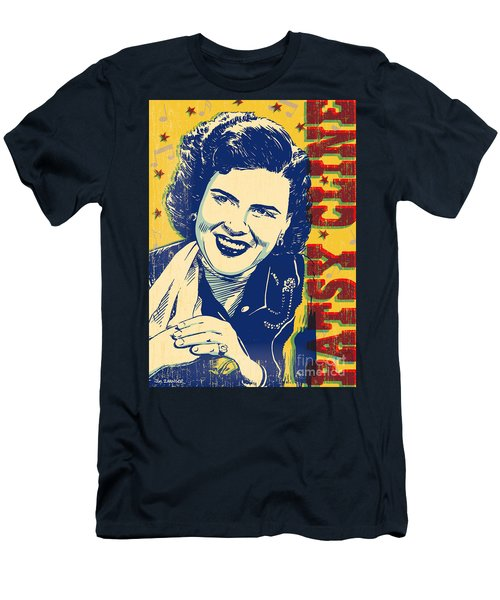 Patsy Cline Pop Art Men's T-Shirt (Slim Fit) by Jim Zahniser