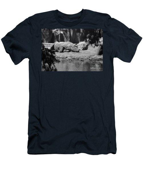 Rhino Nap Time Men's T-Shirt (Slim Fit) by Thomas Woolworth