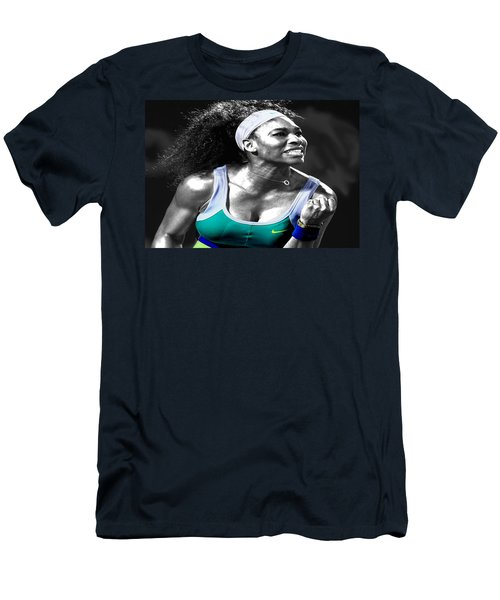 Serena Williams Ace Men's T-Shirt (Slim Fit) by Brian Reaves
