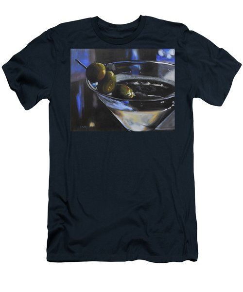 Three Olive Martini Men's T-Shirt (Slim Fit) by Donna Tuten