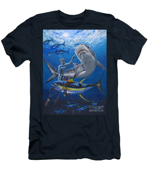 Tiger Encounter Men's T-Shirt (Slim Fit) by Carey Chen