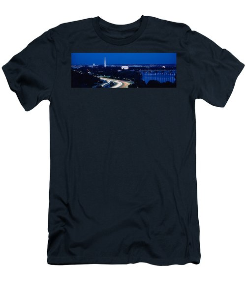 Traffic On The Road, Washington Men's T-Shirt (Slim Fit) by Panoramic Images