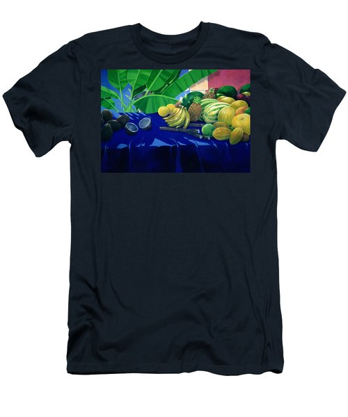 Tropical Fruit Men's T-Shirt (Slim Fit) by Lincoln Seligman