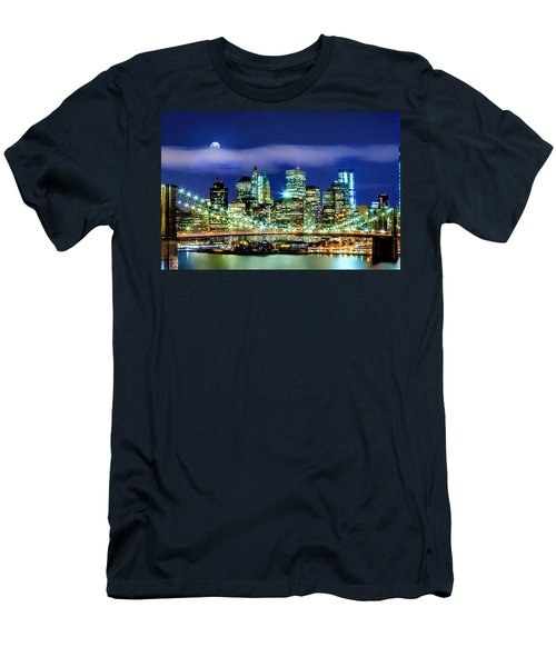 Watching Over New York Men's T-Shirt (Slim Fit) by Az Jackson