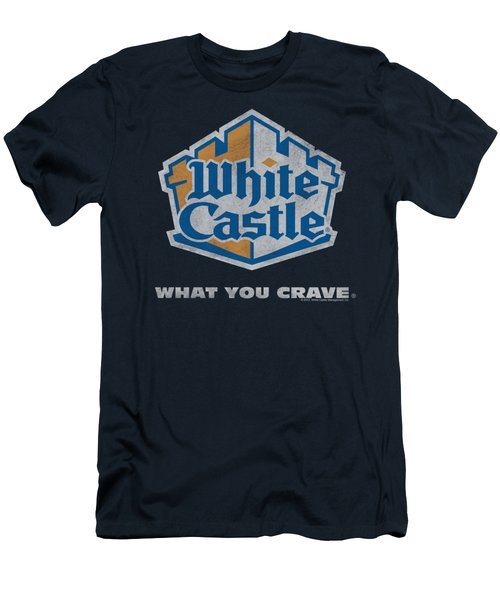 White Castle - Distressed Logo Men's T-Shirt (Slim Fit) by Brand A