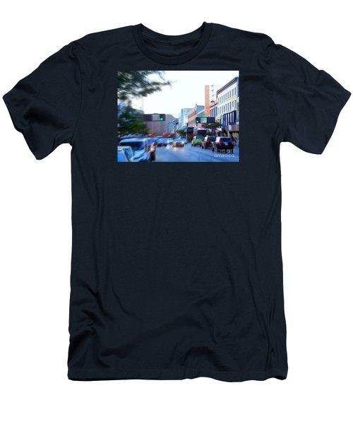 125th Street Harlem Nyc Men's T-Shirt (Slim Fit) by Ed Weidman