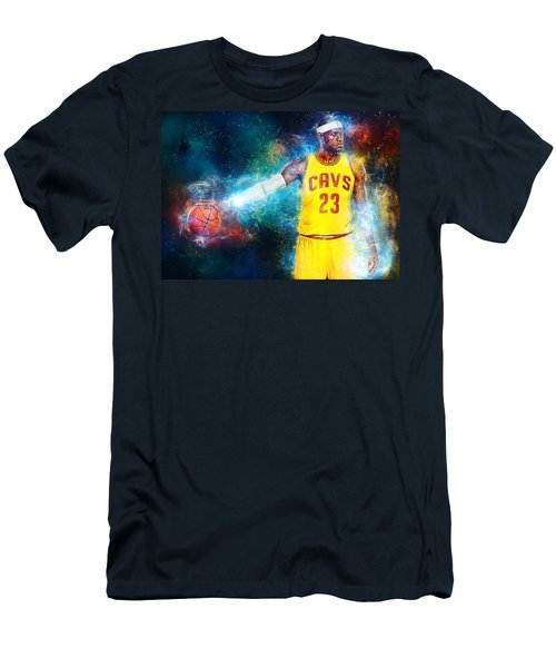 Lebron James Men's T-Shirt (Slim Fit) by Taylan Apukovska