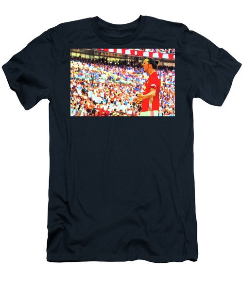 Manchester United's Zlatan Ibrahimovic Celebrates Men's T-Shirt (Slim Fit) by Don Kuing