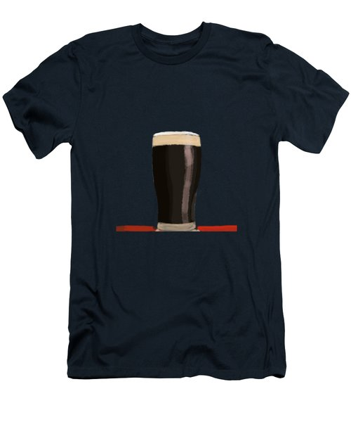 A Glass Of Stout Men's T-Shirt (Slim Fit) by Keshava Shukla