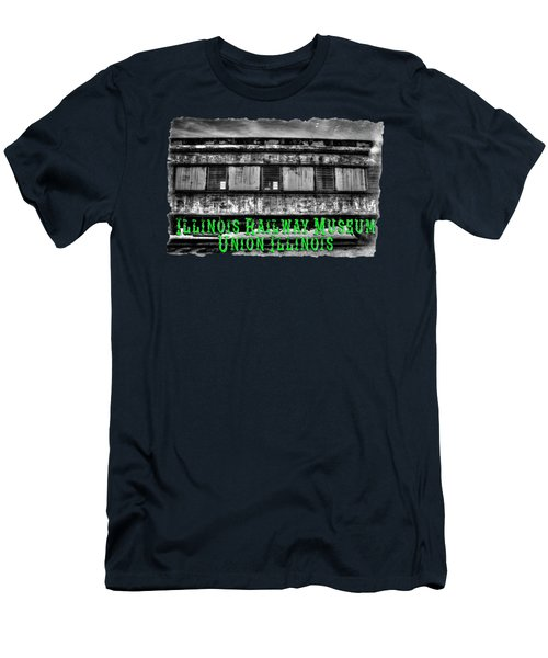 Abandoned Circus Transport Car Men's T-Shirt (Slim Fit) by Roger Passman