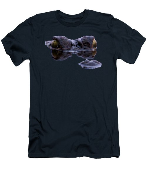 Alligator Eyes On The Foggy Lake Men's T-Shirt (Slim Fit) by Zina Stromberg