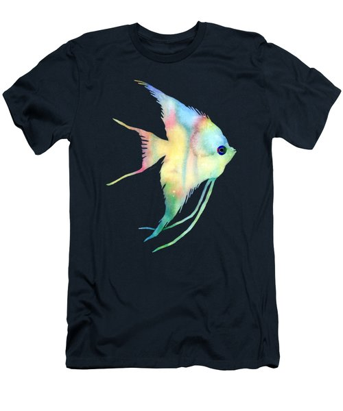 Angelfish I - Solid Background Men's T-Shirt (Slim Fit) by Hailey E Herrera