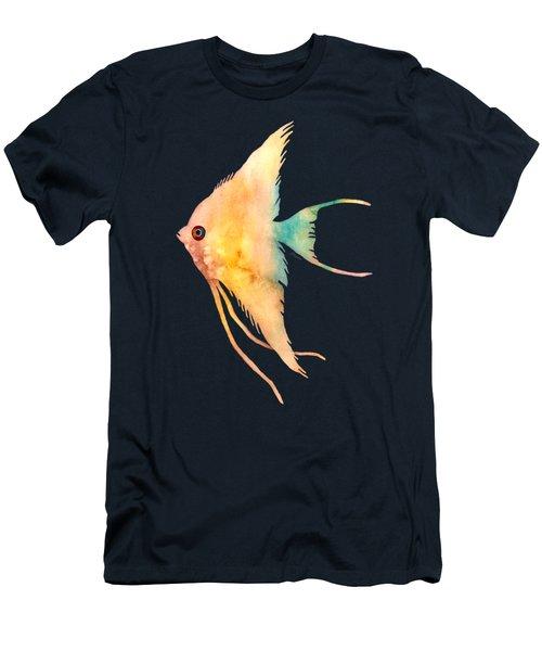 Angelfish II - Solid Background Men's T-Shirt (Slim Fit) by Hailey E Herrera