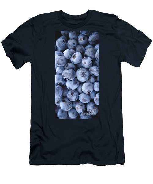 Blueberries Foodie Phone Case Men's T-Shirt (Slim Fit) by Edward Fielding