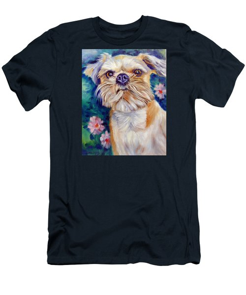 Brussels Griffon Men's T-Shirt (Slim Fit) by Lyn Cook