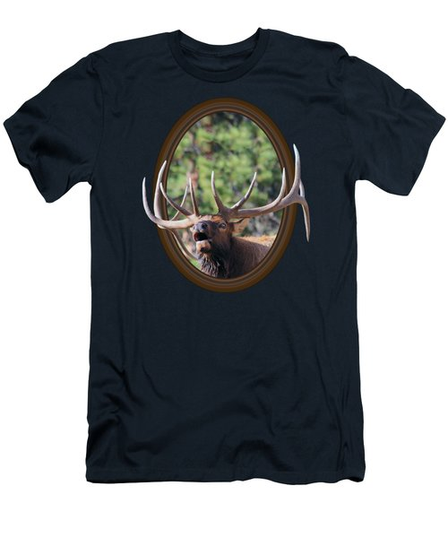 Colorado Bull Elk Men's T-Shirt (Slim Fit) by Shane Bechler