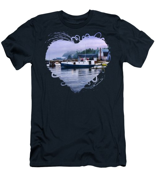 Door County Gills Rock Fishing Village Men's T-Shirt (Slim Fit) by Christopher Arndt