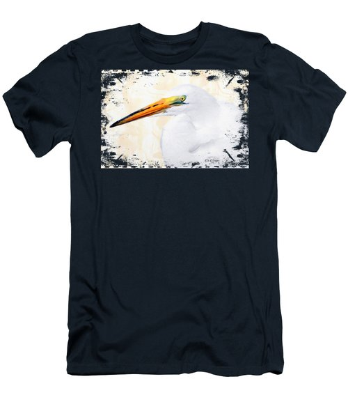 Egret Thoughts Signature Series Men's T-Shirt (Slim Fit) by Di Designs