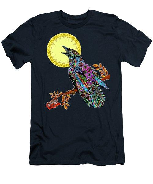 Electric Crow Men's T-Shirt (Slim Fit) by Tammy Wetzel