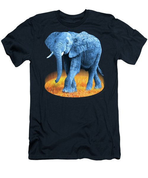 Elephant - World On Fire Men's T-Shirt (Slim Fit) by Gill Billington