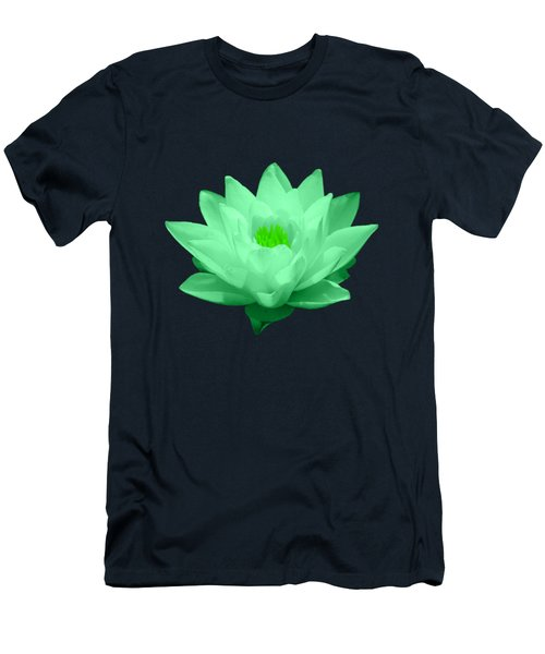 Green Lily Blossom Men's T-Shirt (Slim Fit) by Shane Bechler