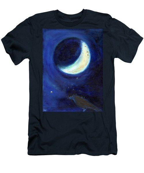 July Moon Men's T-Shirt (Slim Fit) by Nancy Moniz
