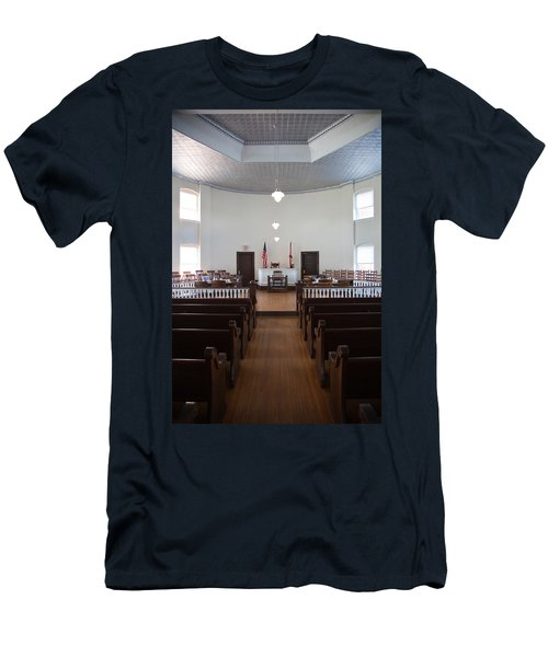Jury Box In A Courthouse, Old Men's T-Shirt (Slim Fit) by Panoramic Images
