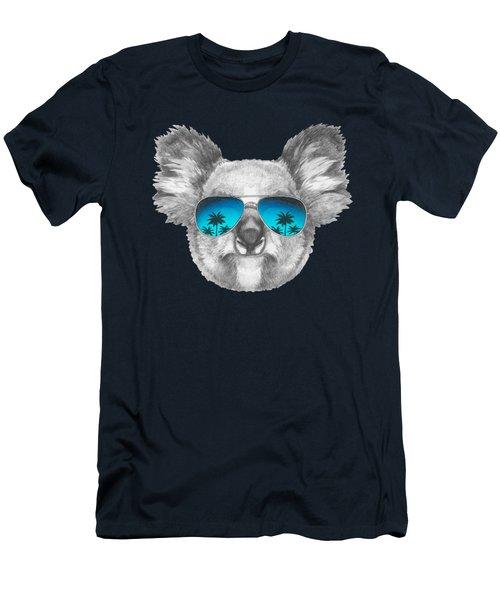 Koala With Mirror Sunglasses Men's T-Shirt (Slim Fit) by Marco Sousa
