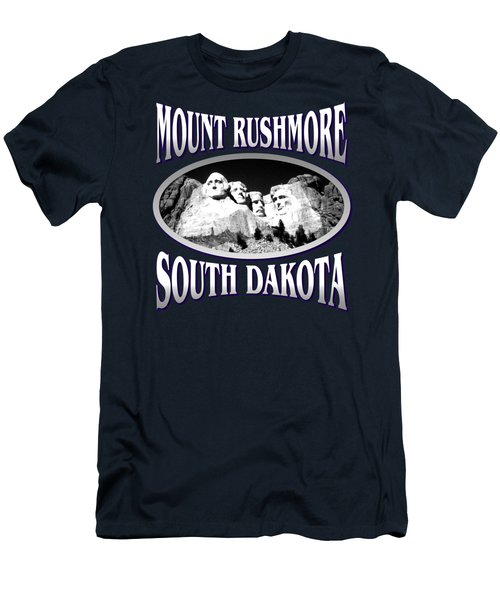 Mount Rushmore South Dakota - Tshirt Design Men's T-Shirt (Slim Fit) by Art America Online Gallery