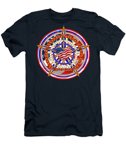 Patriotic For You America Where It Loud And Proud Men's T-Shirt (Slim Fit) by Bill Campitelle