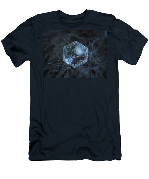 Snowflake Photo - Hex Appeal Men's T-Shirt (Slim Fit) by Alexey Kljatov