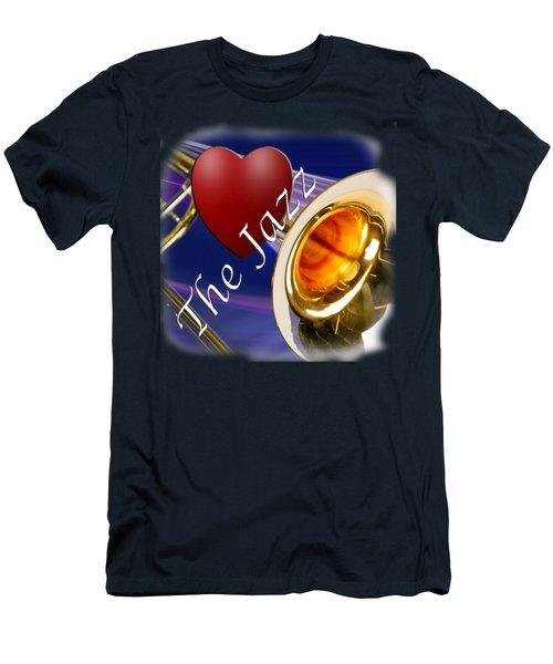 The Trombone Jazz 002 Men's T-Shirt (Slim Fit) by M K  Miller