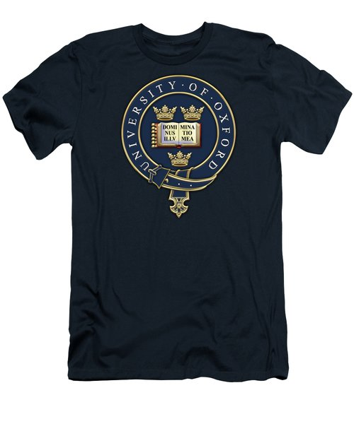 University Of Oxford Seal - Coat Of Arms Over Colours Men's T-Shirt (Slim Fit) by Serge Averbukh