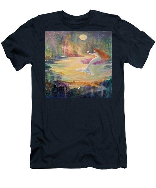 Vintage Mermaid Men's T-Shirt (Slim Fit) by Lily Nava