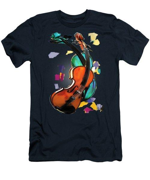 Violins Men's T-Shirt (Slim Fit) by Melanie D