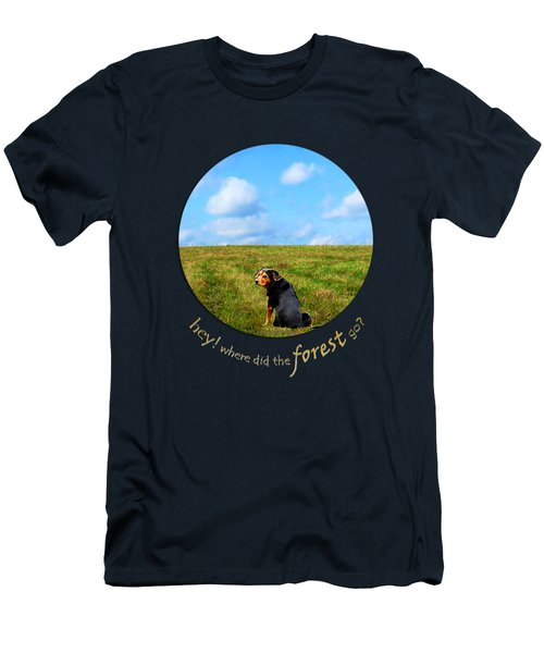 Where Did The Forest Go Men's T-Shirt (Slim Fit) by Christina Rollo