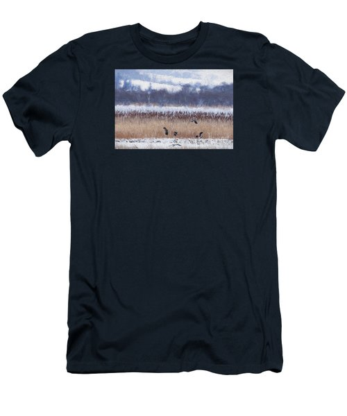 Winter Lapwings Men's T-Shirt (Slim Fit) by Liz Leyden